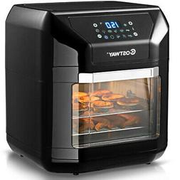 10.6 Quart Air Fryer Oven 1700W 7 in 1 Rotisserie Home w/ 8