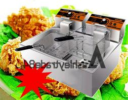 11L Single cylinder double screen Electric Deep Fryer Frying