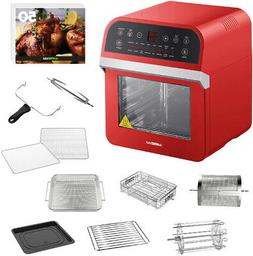 GoWISE USA 12.7 Qt. Electric Air Fryer Oven / Rotisserie wit