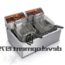 220V 11L Single cylinder double screen Electric Deep Fryer F