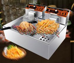220V 11L Single Cylinder Electric Deep Fryer Frying Oven For