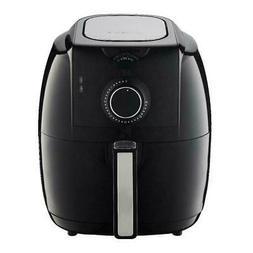 GoWise USA 3.7 Quart Dial Control Air Fryer - Black
