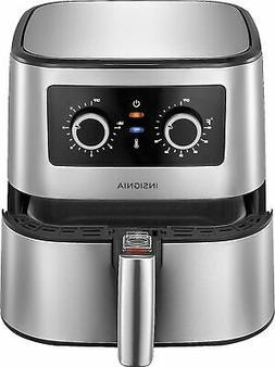5 qt analog air fryer stainless steel