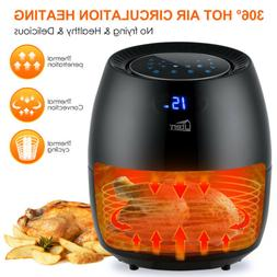 6.87Qt Air Fryer LCD Touch Screen Time Temperature Control O