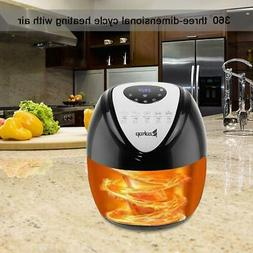 1800W 5.3L LCD Electric Air Fryer 7 Cooking Presets Temperat