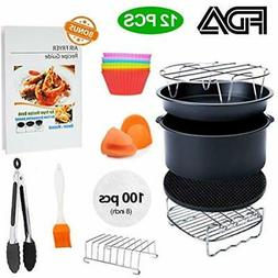 8 Deep Fryer Parts & Accessories Inch XL Air 11 Pcs With Rec