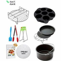 Air Deep Fryer Parts & Accessories 10 Sets +20 Cookbook, Air