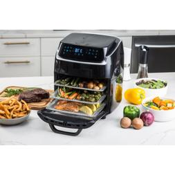 Air Fryer 10 Qt. Black with Recipe Book Bake Fry Grill Kitch