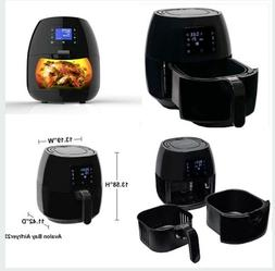 Avalon Bay Digital Air Fryer - Stainless Steel Interior and