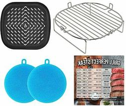 Air Fryer Rack Pan Compatible with Ninja Foodi Grill, Cosori