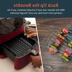 air fryer100 recipes rack and 4 skewers3