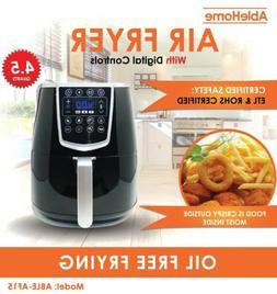 Electric Air Fryer 4.5 Qt 1350W Digital Timer Tempe Control