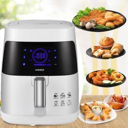 1200W 2.7QT Electric Oil Less Air Fryer Timer Temperature Control  Kitchen Af