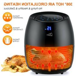 Electric Air Fryer 6 Qt 1700W Digital Timer Temp Control 8 P