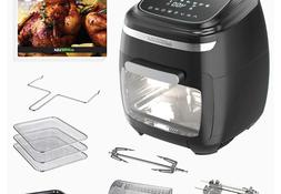 GoWISE USA GW77722 11.6-Quart Air Fryer Toaster Oven with Ro