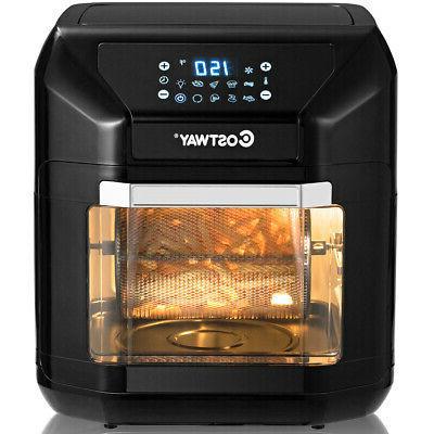 10.6 Quart Air Fryer Oven 1700W 7 in 1 Rotisserie Dehydrator