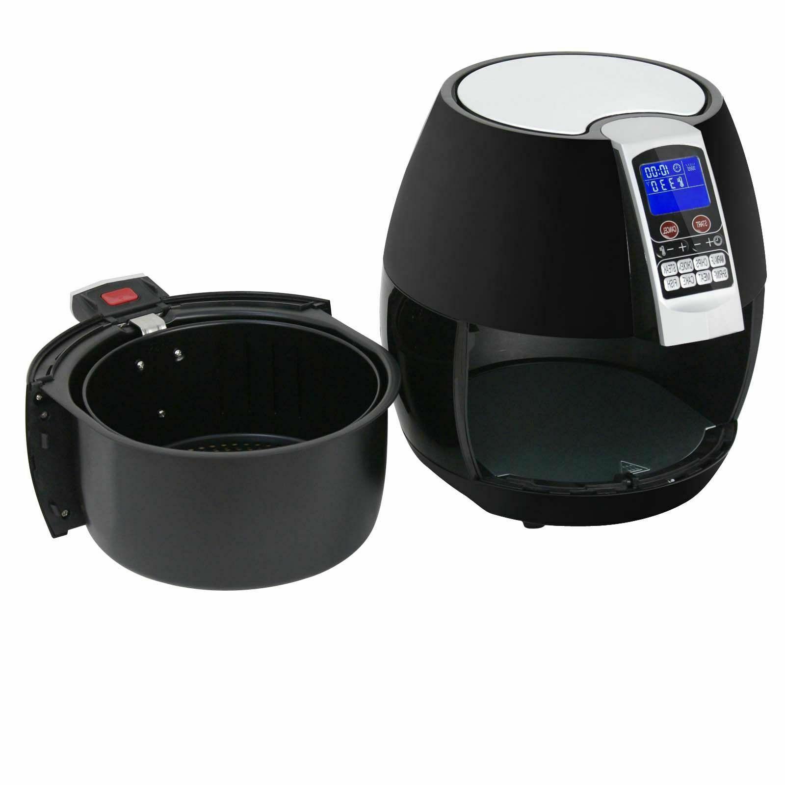 1500W LCD Fryer W/ 8 Presets, Control, Timer