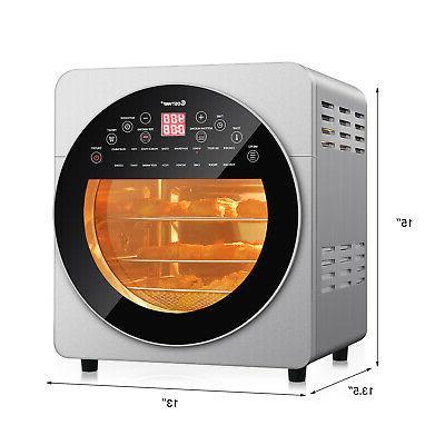 16-in-1 15.5 Toaster Dehydrator Rotisserie w/ Accessories