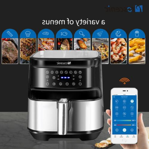 1700W Electric Hot Air Fryers Oven Oilless Cooker LED Screen