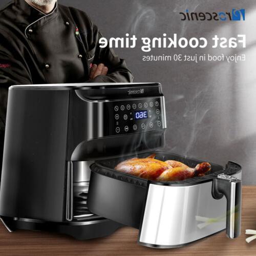1700W Fryers Oilless Cooker LED Nonstick Frying Pot