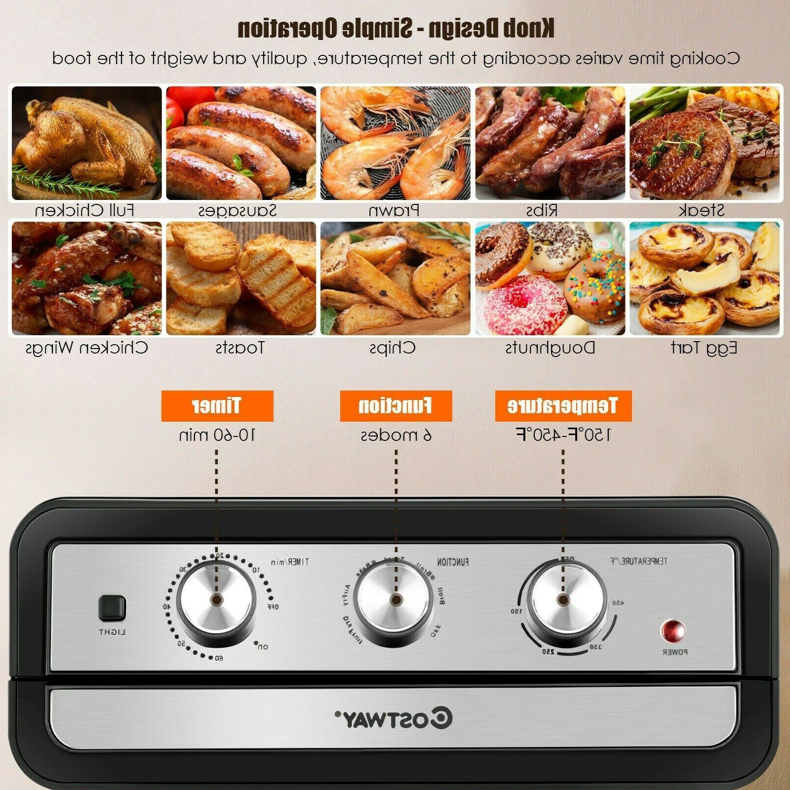 23QT Air Toaster Oven Rack Black