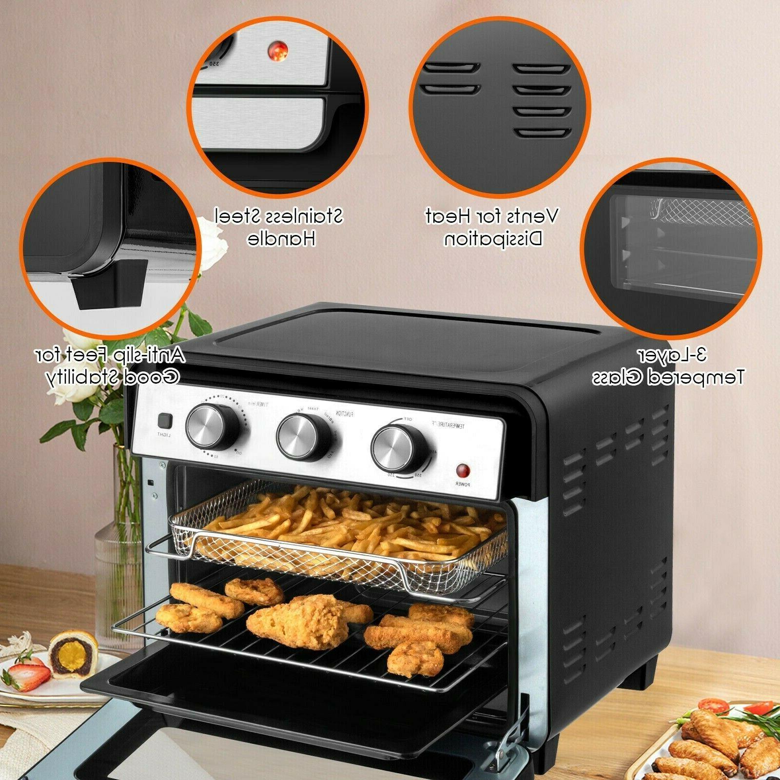 23QT Air Fryer Toaster Oven Bake Rack Black