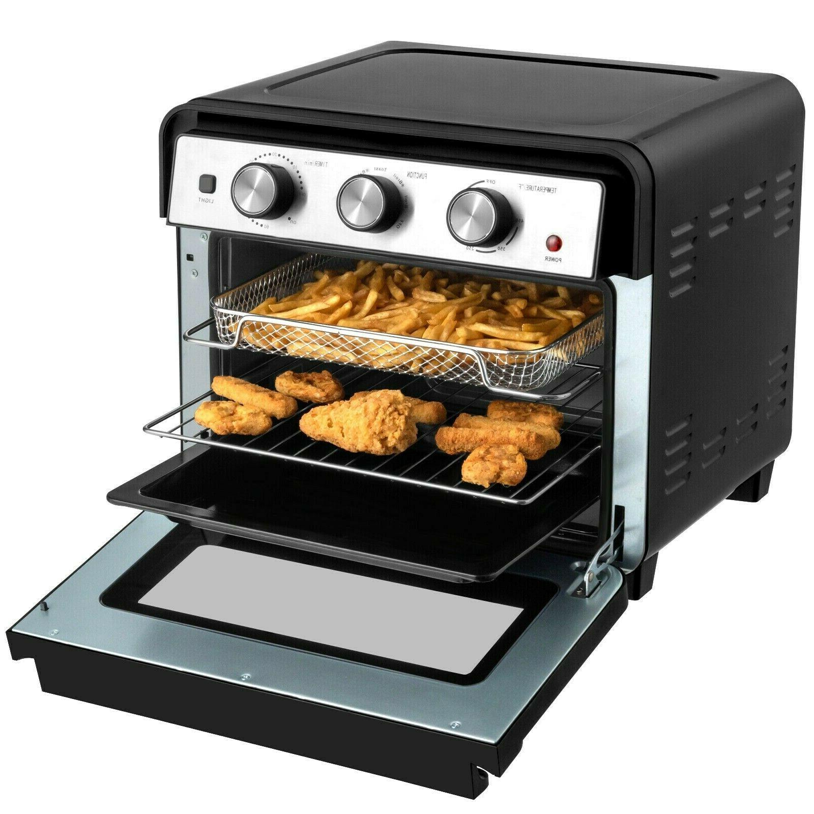 23qt air fryer countertop toaster oven rotisserie