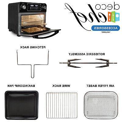 Deco Air Fryer Countertop Toaster Oven Rotisserie Rack