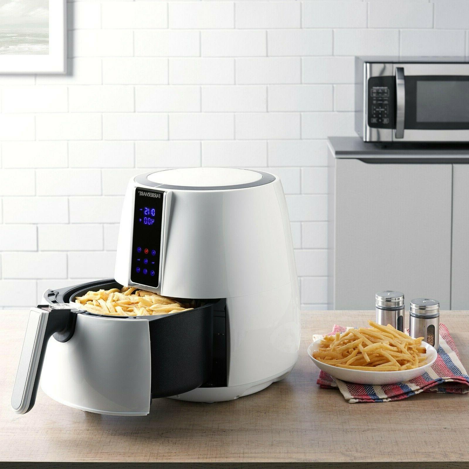 Farberware 3.2 Quart Digital Air Fryer, Oil-Less, White