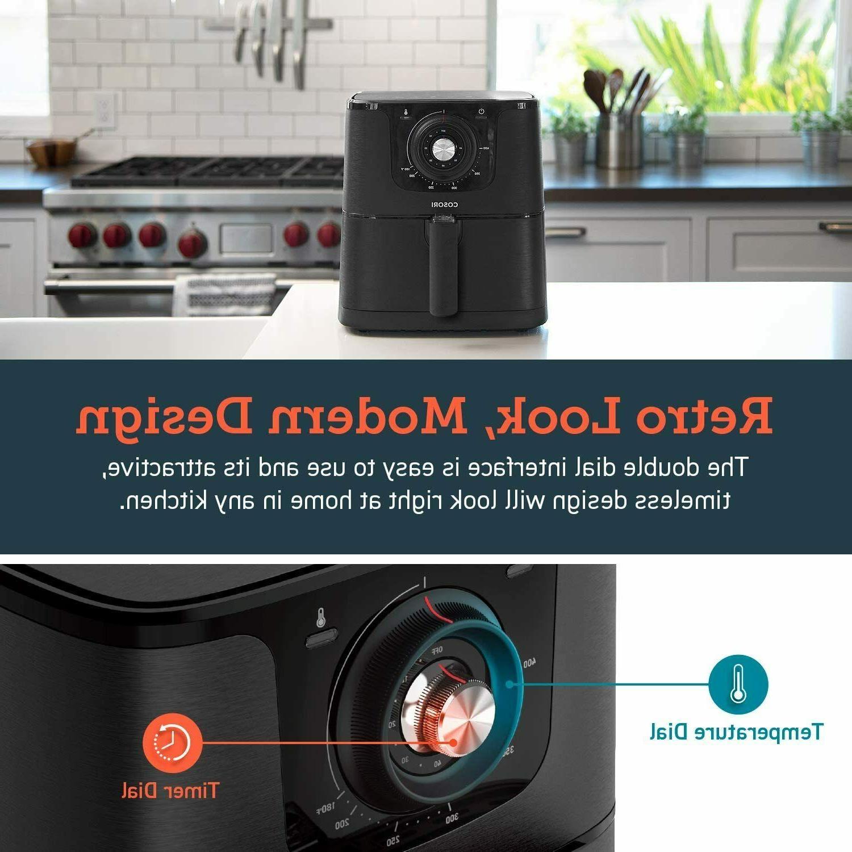 COSORI Qt Air Fryer Oven 1500W Recipes Yr Black