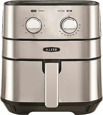 4 qt analog air convection fryer stainless