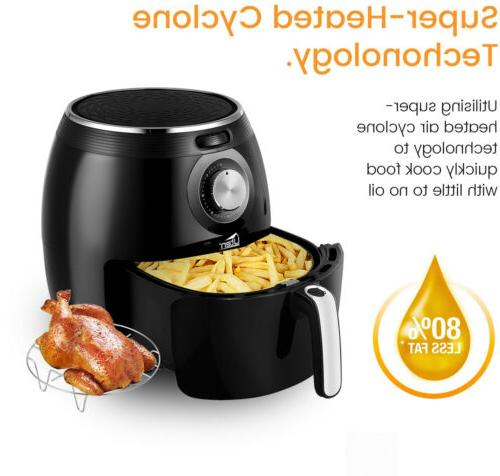 5.5L Cooker Fryer Electric Oven Oil Free Cooker Kitchen
