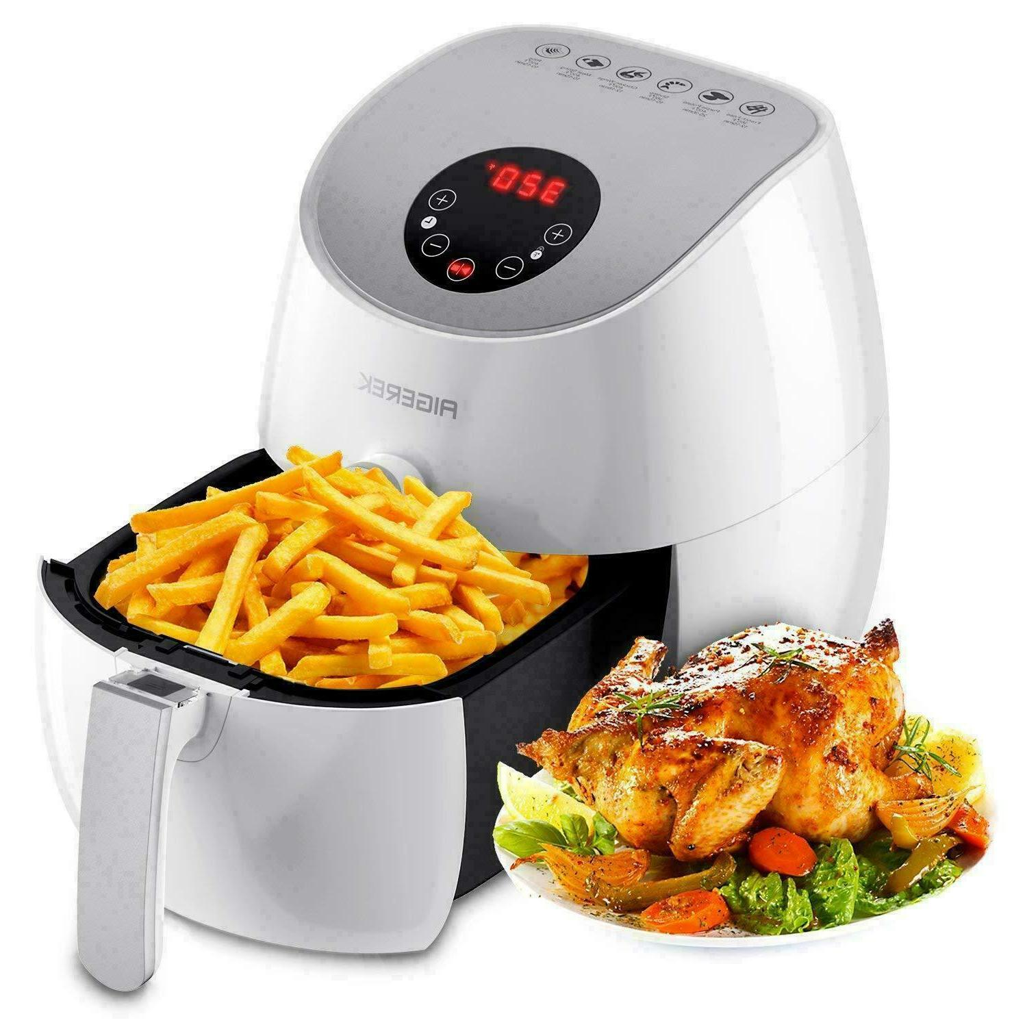 6 presets air fryer led touch screen