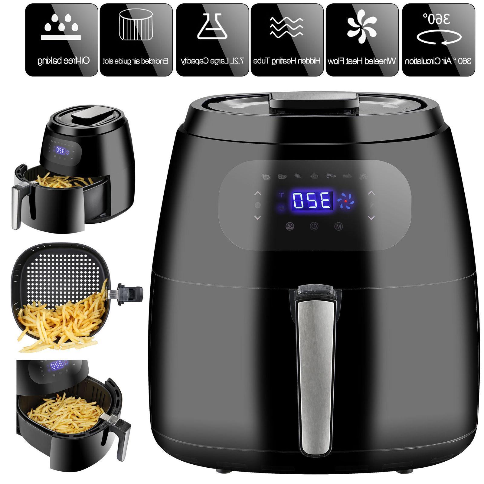 7 6qt air fryer 1700w cooker xxl