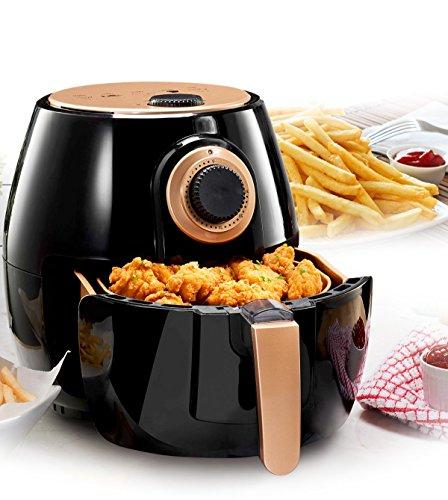 Gotham Rapid Technology Oil Free Adjustable Temperature Control with Auto Safe Nonstick Copper Coating–As Seen on TV
