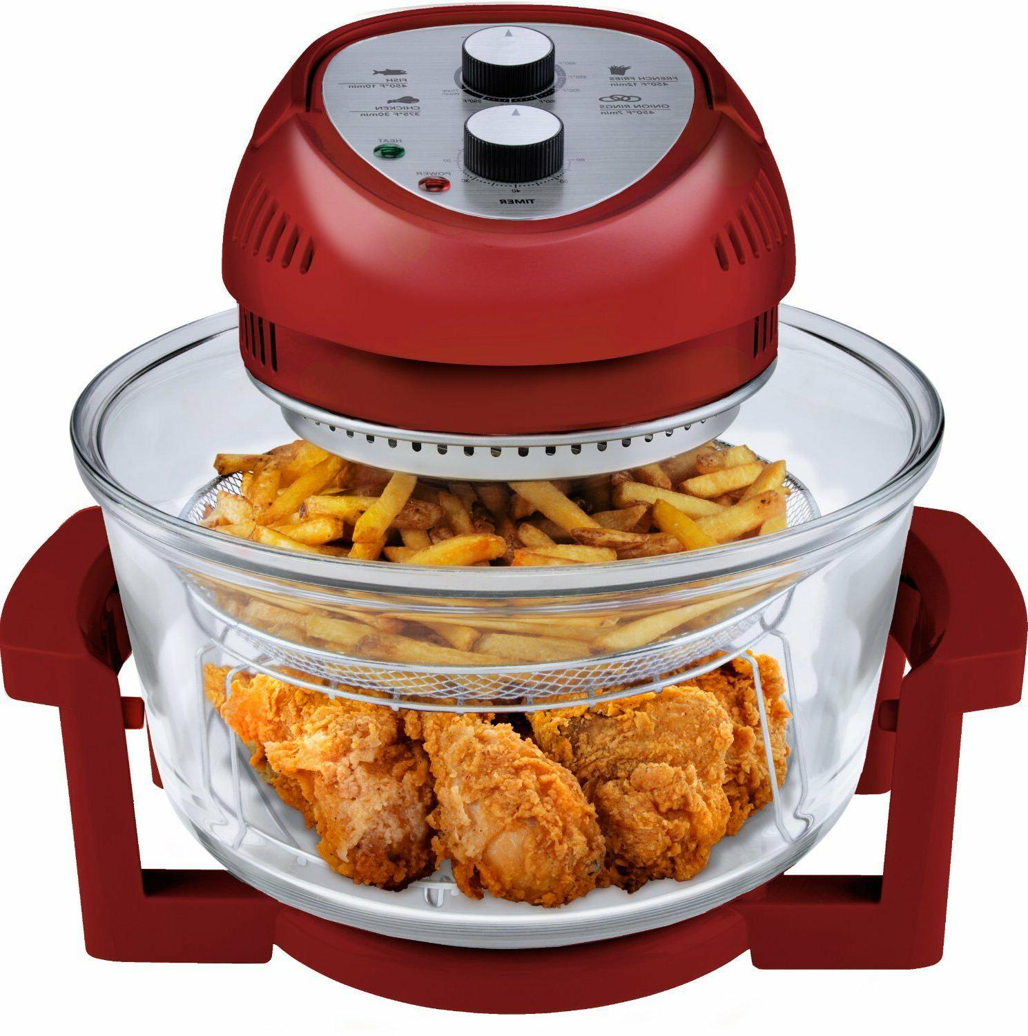 air fryer 1300 watt 16 quart red