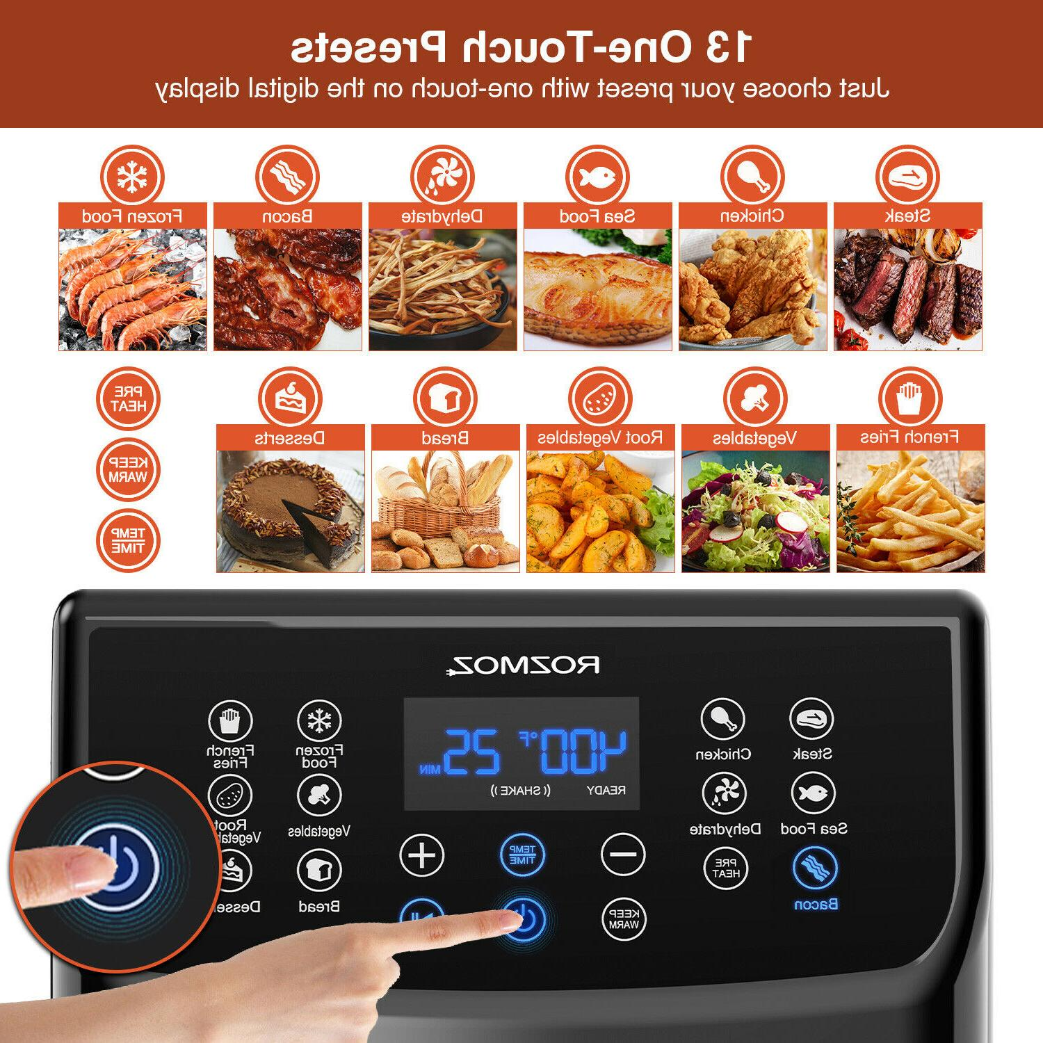 Rozmoz 5.8 1700W Recipe Work Genuine LED Digital Touchscreen