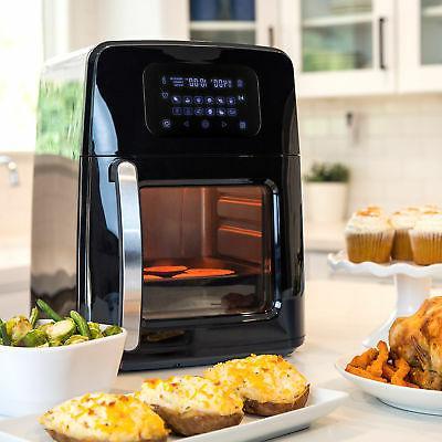 12.4qt XL Fryer Oven Rotisserie, Dehydrator Presets, 7 Accessories New
