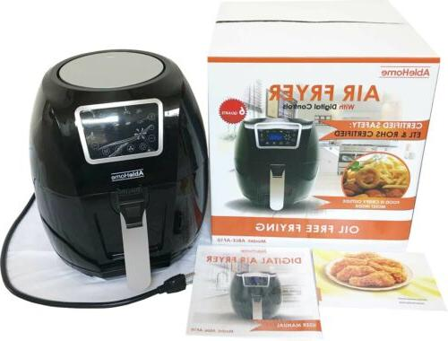 Electric Air Fryer Qt 1700W Temp 8 Healthy
