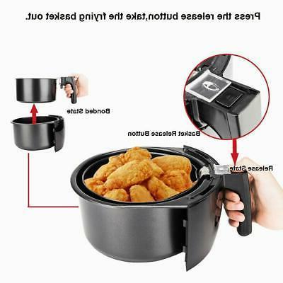 ZOKOP Electric Fryer Digital 1500W Oil-Less Black