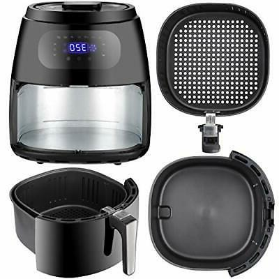 Large Air Fryer 1700W Oven Screen Hot Cooker