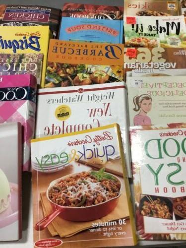 Lot Cookbooks Bundle vintage modern fryer vegan meat