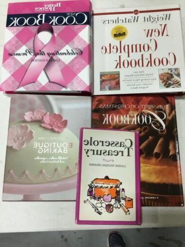 Lot of 5 used Cookbooks Random modern vegan meat baking