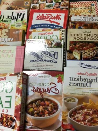 lot of 5 used cookbooks random bundle