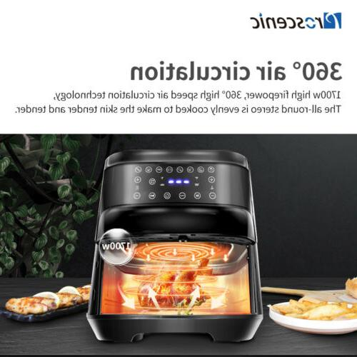 1700W Electric Fryers Oilless Cooker LED Nonstick Pot