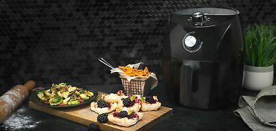 3.5qt Fryer Black Stainless Accents