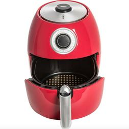 New Cook's Essentials 6qt Nonstick Family Air Fryer Red Colo
