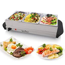 Hot Plate Food Warmer  Buffet Server Chafing Dish Set - Port