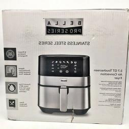 Bella - Pro Series 3.7 qt. Digital Air Fryer - Stainless Ste