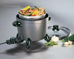 Small Electric Deep Fryer with Fry Basket Hot Oil Frying Pot